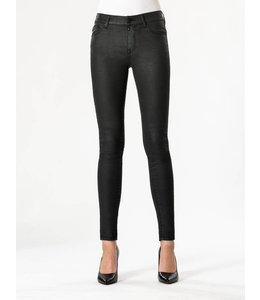 COJ Sylvia Black Coated High Waisted Jeans