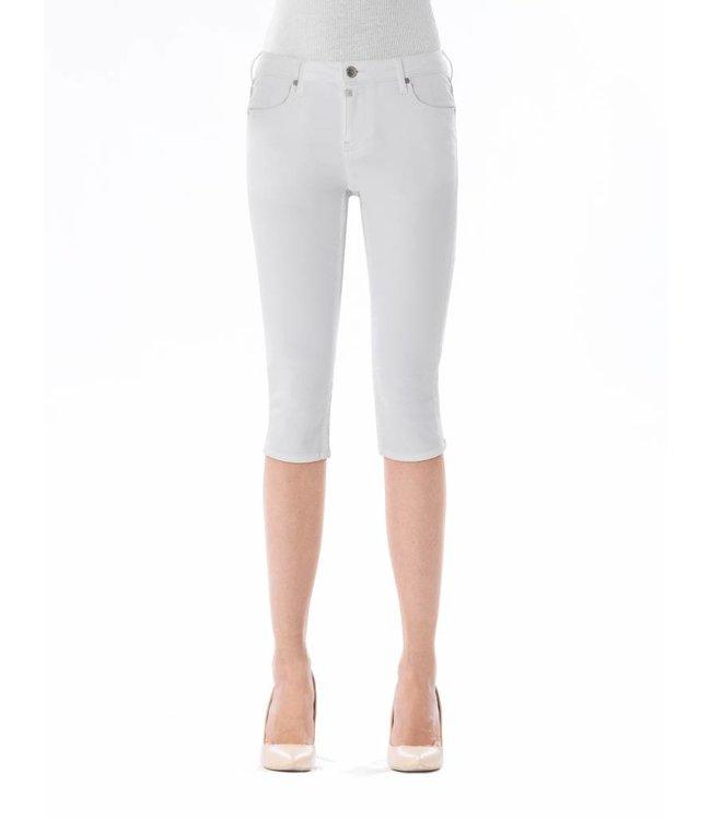 COJ Mia White Capri Jeans