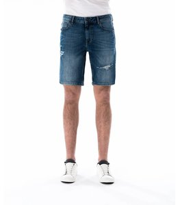 COJ Paul Medium Blue Ripped Shorts
