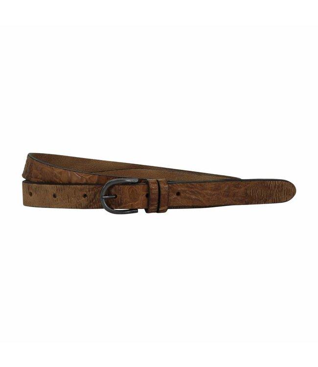 The Belt 20mm Ladies Belt Creme Brown