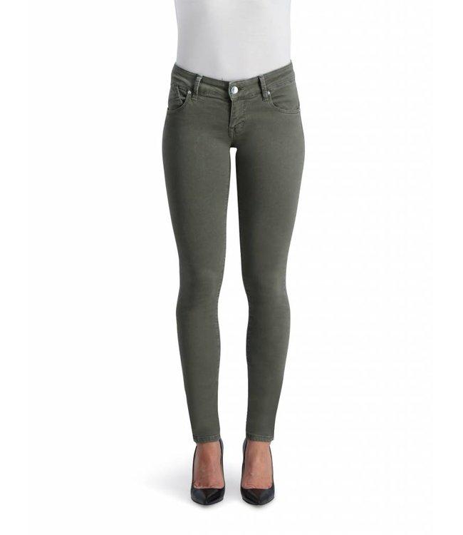 COJ Gina Olive Green Push-up Jeans