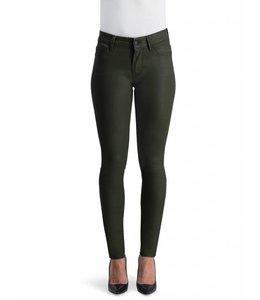 COJ Sylvia Khaki Coated High Waisted Jeans