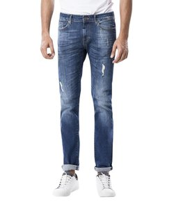 COJ Ray Medium Blue Vintage Straight Cut Jeans