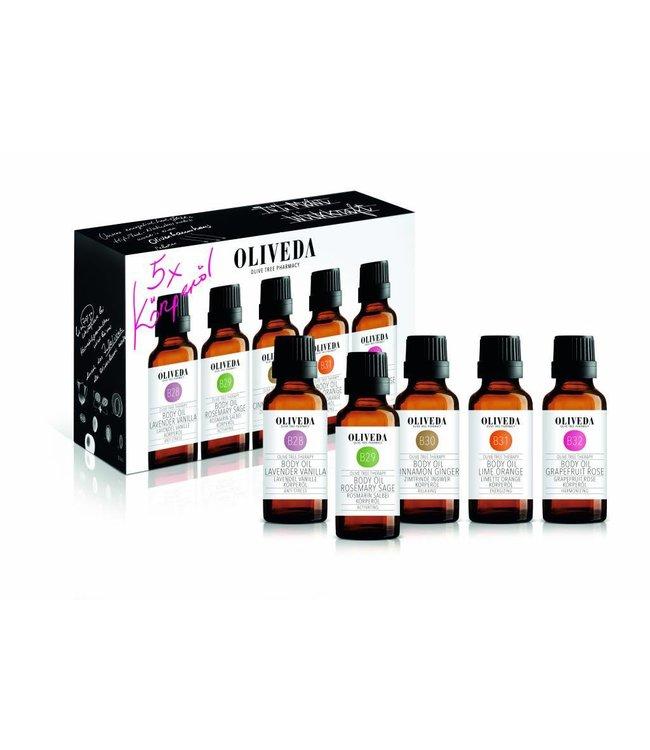 Oliveda Body Oil set