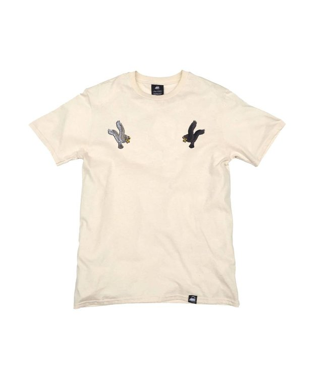 Iron & Stitch Natural Organic Cotton Tee + Eagles Patch Pack (R)