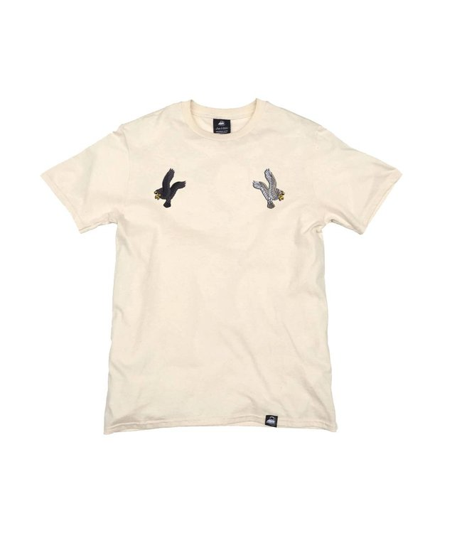 Iron & Stitch Natural Organic Cotton Tee + Eagles Patch Pack (L)