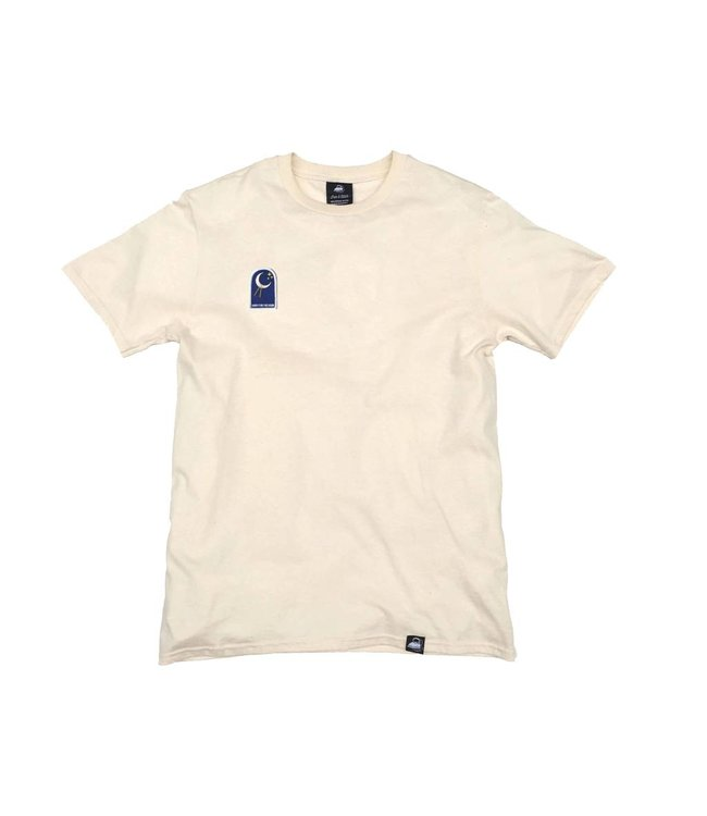 Iron & Stitch Natural Organic Cotton Tee + Shoot For The Moon Patch (R)