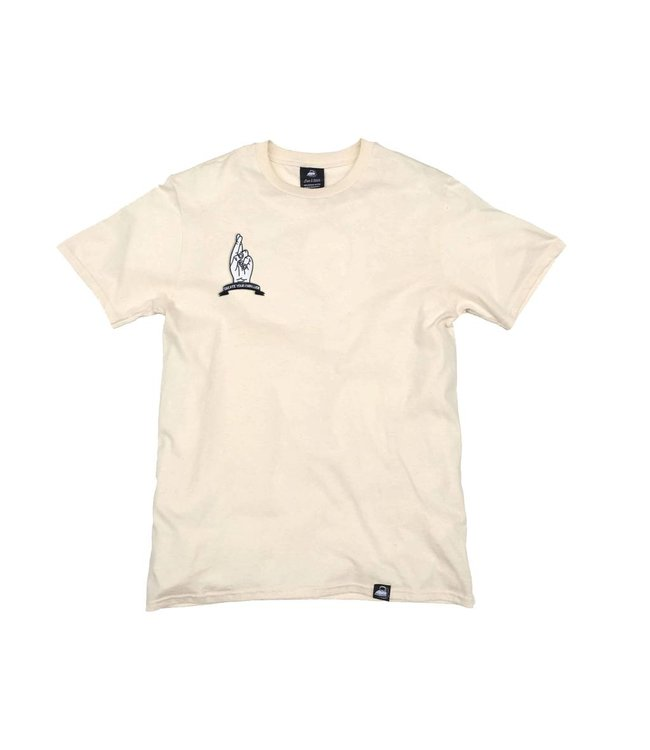 Iron & Stitch Natural Organic Cotton Tee + Create Your Own Luck Patch (R)
