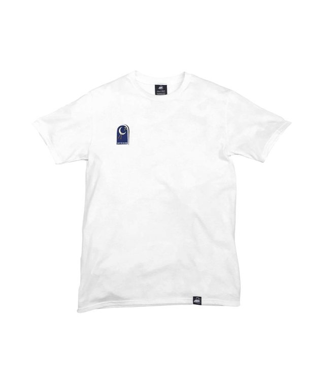 Iron & Stitch White Organic Cotton Tee + Shoot For The Moon Patch (R)