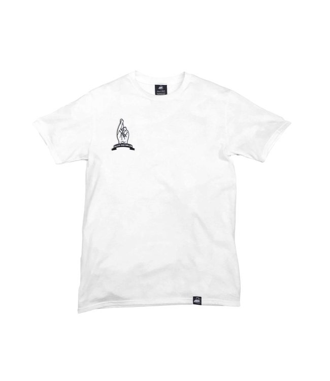 Iron & Stitch White Organic Cotton Tee + Create Your Own Luck Patch (R)