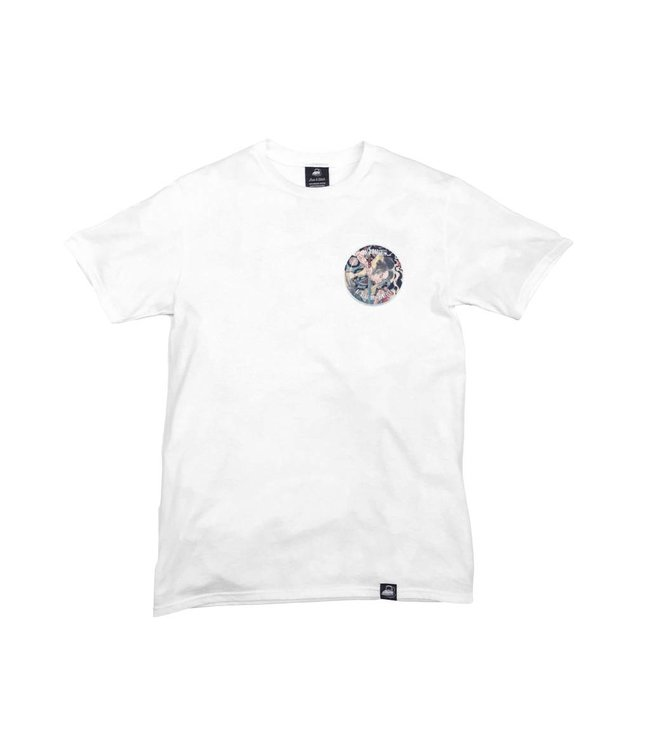 Iron & Stitch White Organic Cotton Tee + Be Real Not Perfect Patch (L)