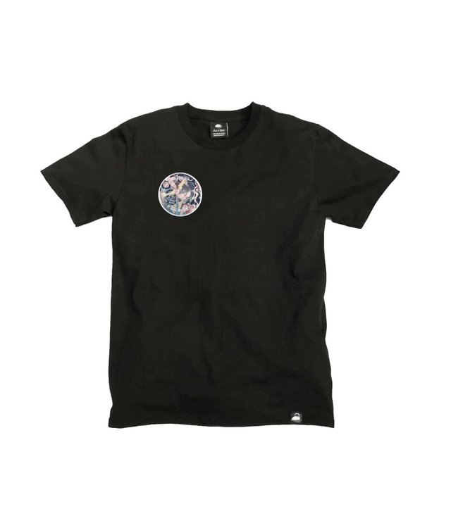 Iron & Stitch Black Organic Cotton Tee + Be Real Not Perfect Patch (R)
