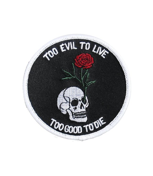 Iron & Stitch Rose Skull