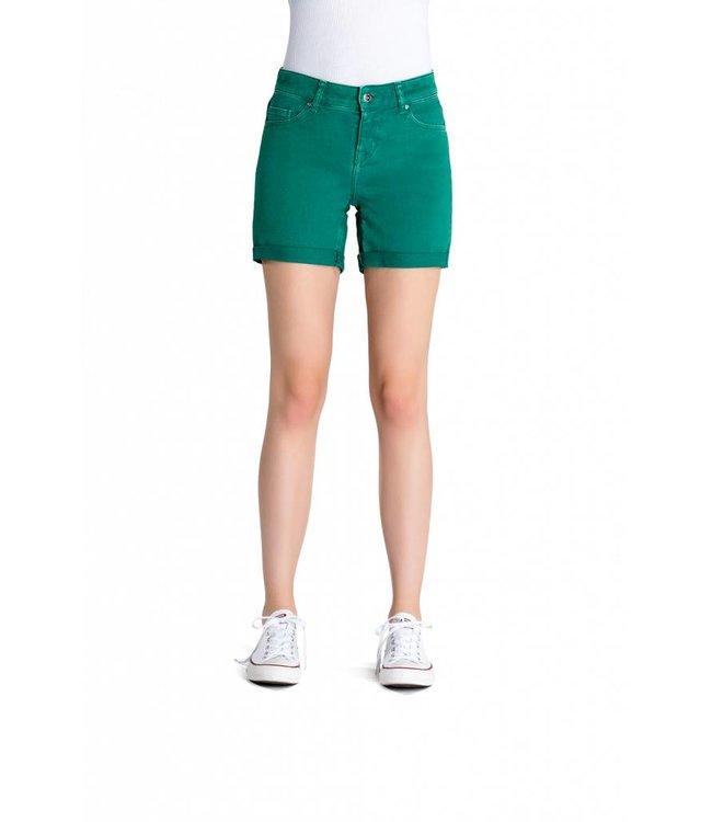 COJ Emma Light Green Denim Shorts