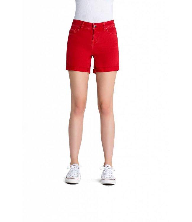 COJ Emma Poppy Red Denim Shorts