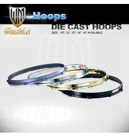 "World Max Die Cast Hoops Brass Finish 13-14"""