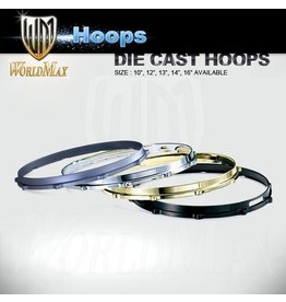 World Max Die Cast Hoops Satin Chrome 13-14""