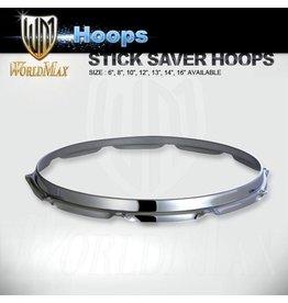 "World Max Slingerland Type Stick Saver Hoops 6-18"""