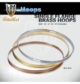World Max Single Flanged Hoops Chrome Finish 10-16""