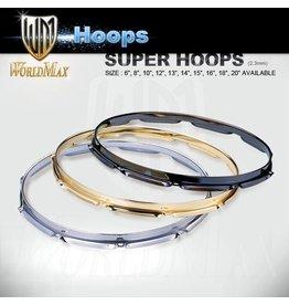 "World Max 3mm Super Hoops Chrome 10-18"""