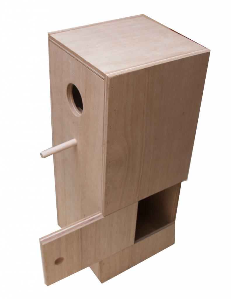 Nestkast voor de Malakka langstaartparkiet