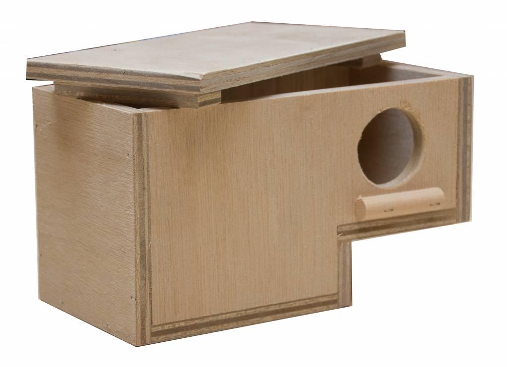 Nestkast voor de Gouldamadine