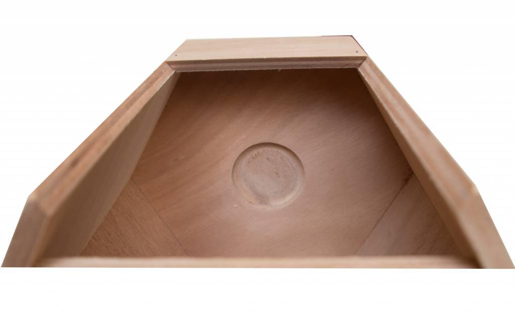 Nestkast voor de Blauwvleugelparkiet