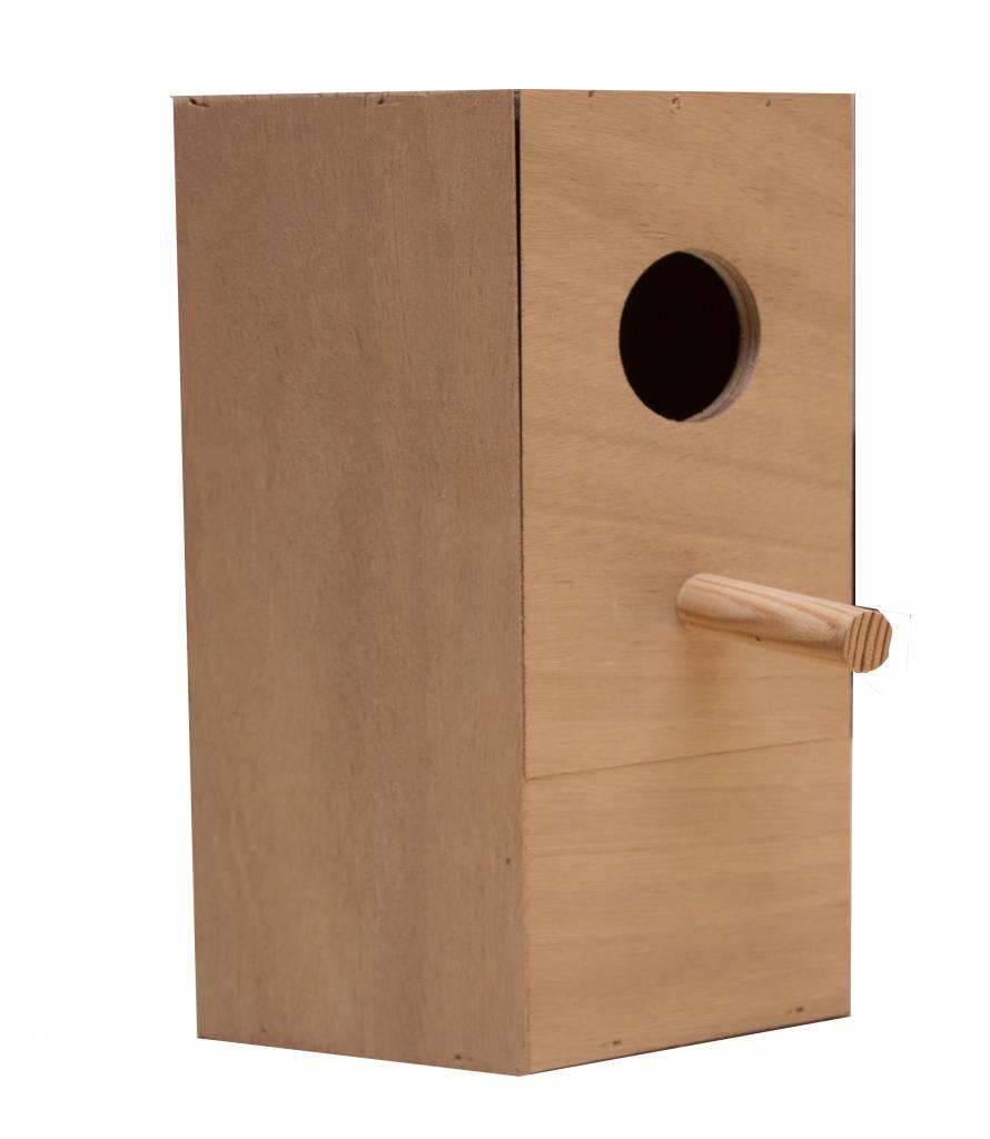 Nestkast voor de Turquoisineparkiet