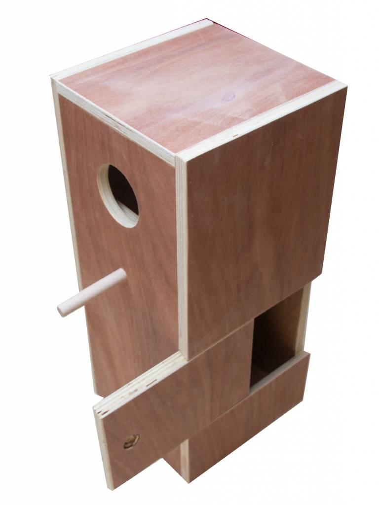 Nestkast voor de Afrikaanse halsbandparkiet