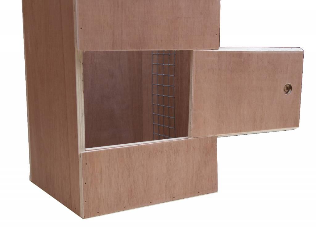 Nestkast voor de Hoffmans parkiet