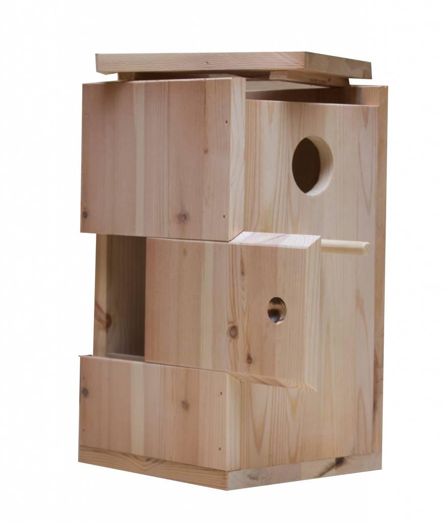 Nestkast voor de Witvleugelparkiet