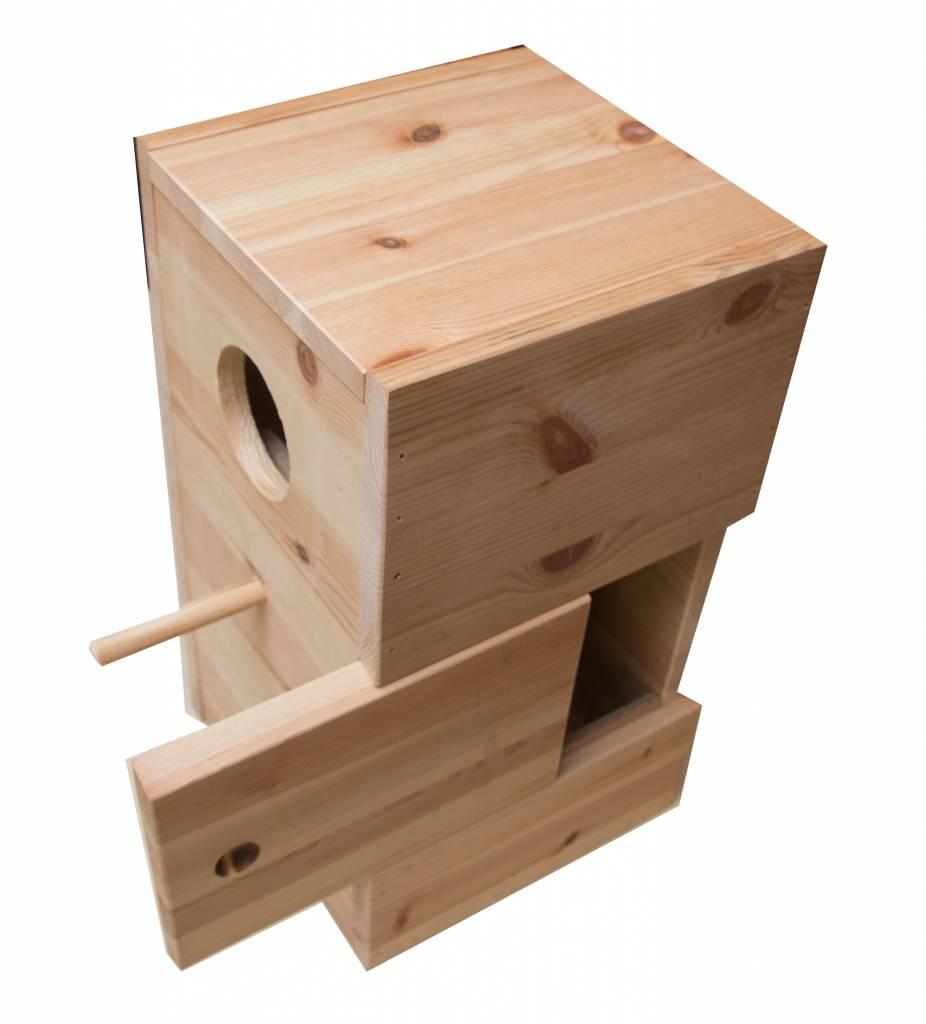Nestkast voor de Witbuik caique
