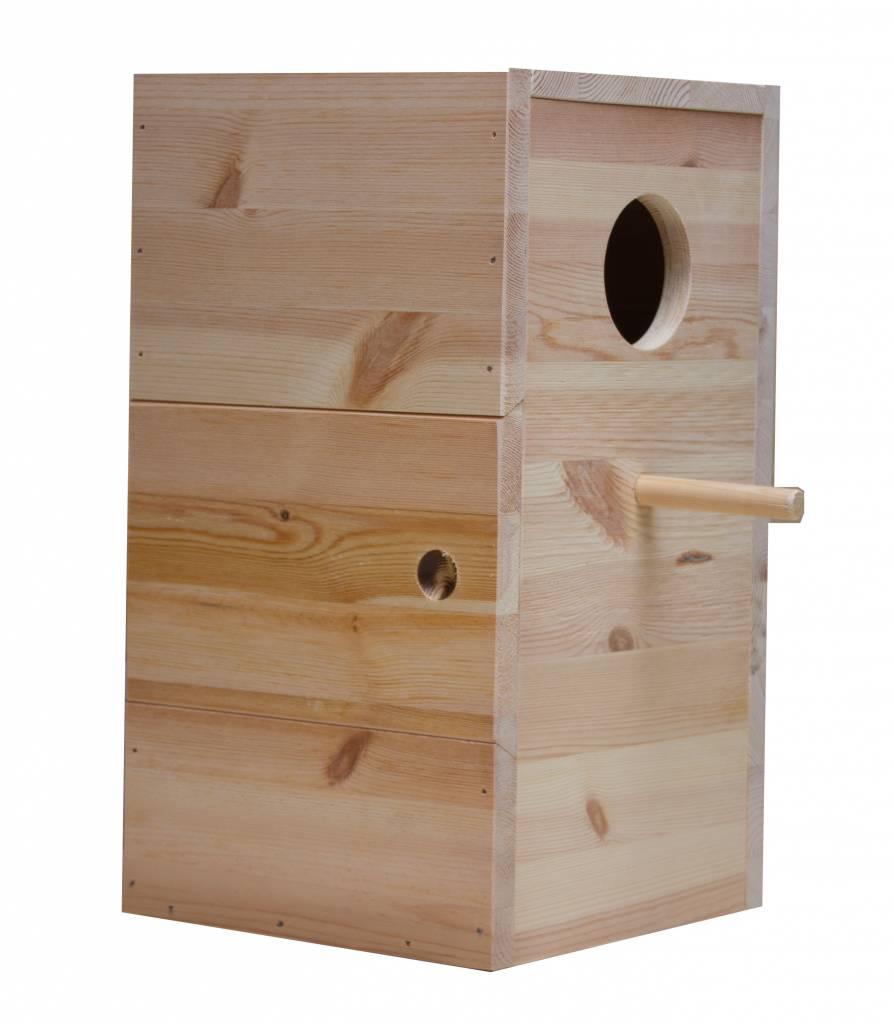 Nestkast voor de Geelbuik caique