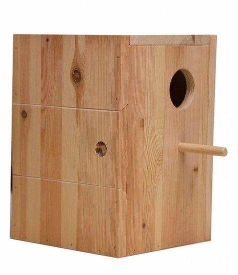 Nestkast voor de Valkparkiet