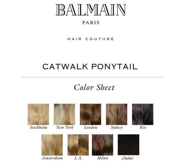 BALMAIN CATWALK PONYTAIL - 55CM