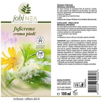 Teebaum-Fußcreme (Melaleuca alternifolia) / 100 ml