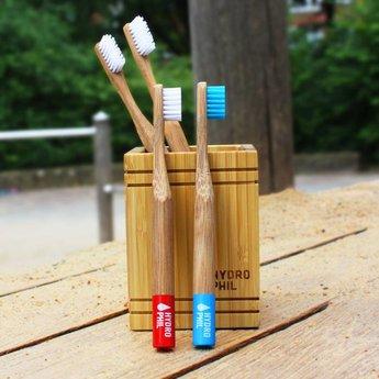 Zahnbürste mit Bambusgriff - Naturfarben