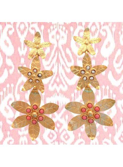 Adamarina Saffron Coral Earrings