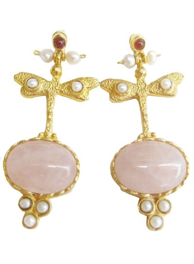 Adamarina Lucia Pink Earrings