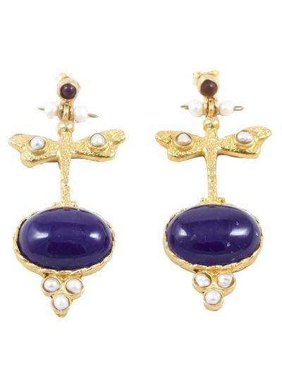 Adamarina Lucia Purple Earrings