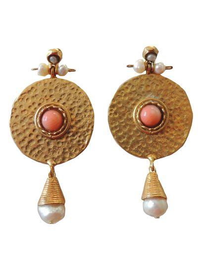 Adamarina Helena Pink Coral Earrings