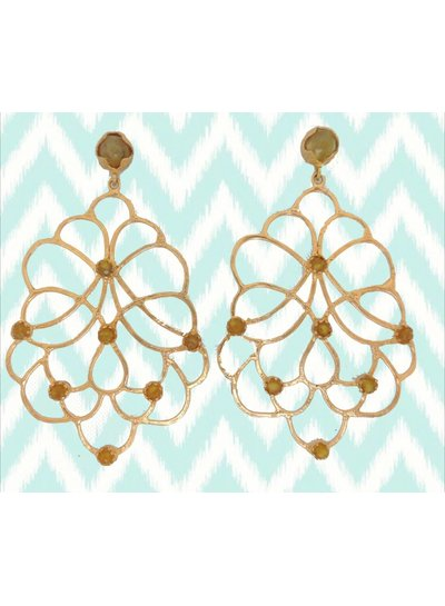Adamarina Dalia Green Earrings
