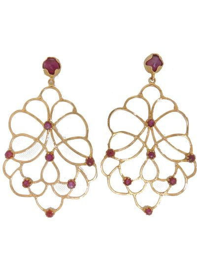 Adamarina Dalia Lila Earrings