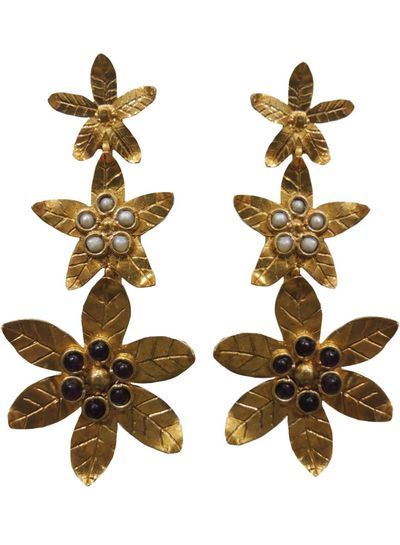 Adamarina Saffron Amethyst Earrings