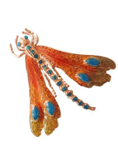 Adamarina Brooch Dragonfly Mod. 18
