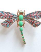Adamarina Brooch Dragonfly Mod. #21