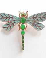 Adamarina Brooch Dragonfly Mod. #22