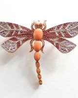 Adamarina Brooch Dragonfly Mod. #23