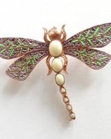 Adamarina Brooch Dragonfly Mod. #26