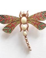 Adamarina Brooch Dragonfly Mod. #27